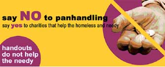 Say NO to panhandling poster